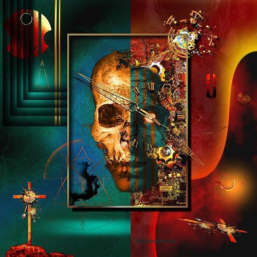 Franziskus Pfleghart, Die Unbegreiflichkeit des Seins im Rausch der Irritationen, Fantasie, Mythologie, Postsurrealismus, Abstrakter Expressionismus