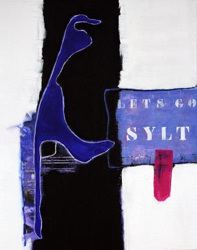 """Christa Hartmann,  Let`s go Sylt """" / I, Abstraktes, Fantasie, Moderne"""