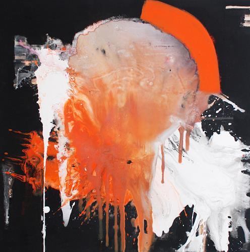 "Christa Hartmann,  MEPHISTO "" II, Abstraktes, Diverses, Moderne, Abstrakter Expressionismus"