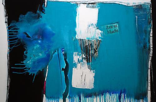 Christa Hartmann,  ZEIT IST MACHT , Abstraktes, Fantasie, Moderne, Expressionismus