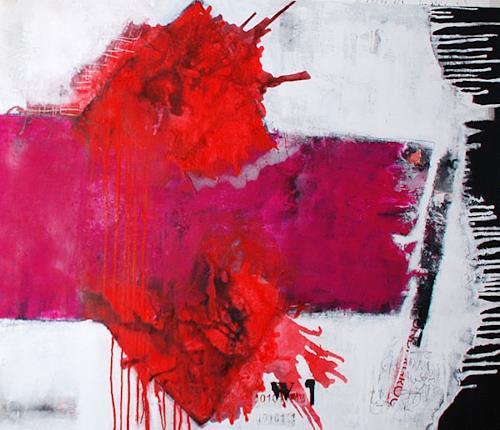 Christa Hartmann, O/T, Abstraktes, Fantasie, Abstrakter Expressionismus