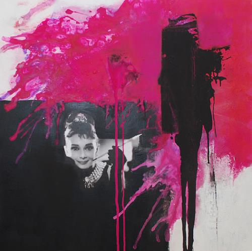 Christa Hartmann,  Eleganz & Grazie , Menschen: Gesichter, Abstraktes, Expressionismus, Abstrakter Expressionismus