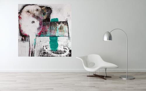 """Christa Hartmann, Kunst  & Wohnen  """" Zum Schauen bestellt , Abstraktes, Fantasie, Abstrakter Expressionismus"""