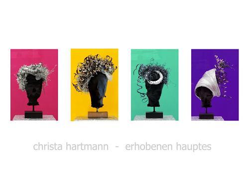 Christa Hartmann, Erhobenen Hauptes, Menschen, Abstraktes, Fotorealismus