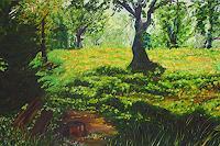 Maria-Osning-Landschaft-Landschaft-Berge-Moderne-Impressionismus
