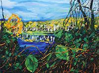 Maria-Osning-Landschaft-Herbst-Natur-Wald-Moderne-Expressionismus