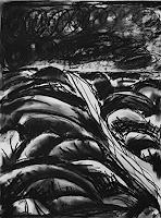 Maria-Osning-Landschaft-Ebene-Natur-Erde-Moderne-Expressionismus
