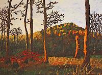 Maria-Osning-Landschaft-Berge-Natur-Wald-Moderne-Impressionismus-Postimpressionismus