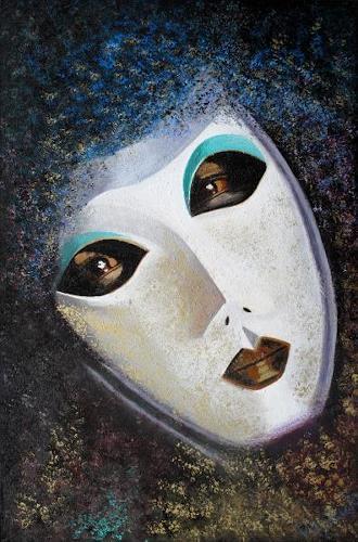 Barbara Vapenik, Venezianische Maske, Karneval, Gegenwartskunst, Abstrakter Expressionismus
