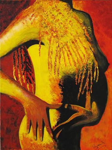 Barbara Vapenik, African Queen, Akt/Erotik: Akt Frau, Gegenwartskunst
