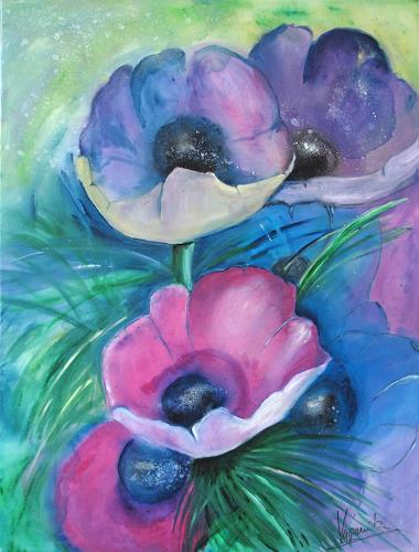 Barbara Vapenik, Mohnblumen, Pflanzen: Blumen, Gegenwartskunst