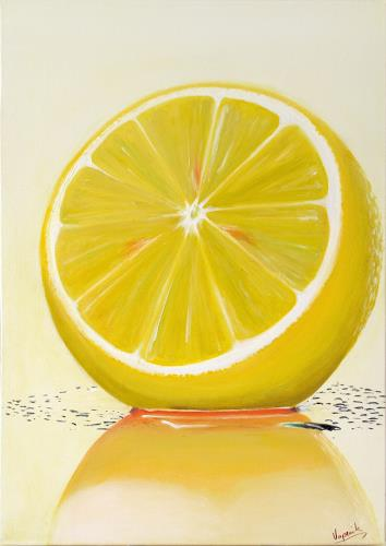 Barbara Vapenik, Zitrusfrucht, Pflanzen: Früchte, Gegenwartskunst, Expressionismus