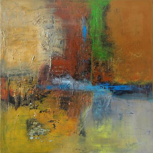 Barbara Vapenik, Die Farben der Erde, Abstraktes, Dekoratives, Gegenwartskunst