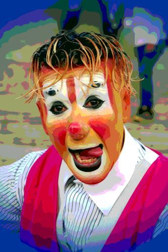 Arie Wubben, Clown in Querétaro II, Gefühle: Freude, Menschen: Gesichter, New Image Painting