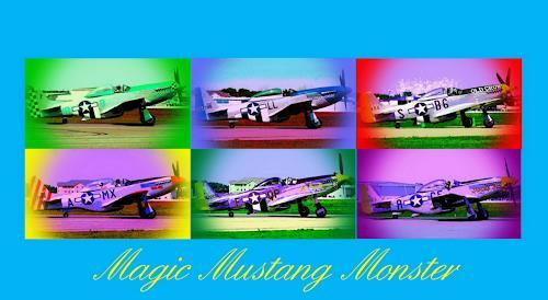 Arie Wubben, Magic Mustang Monster, Dekoratives, Verkehr: Flugzeug, Pop-Art