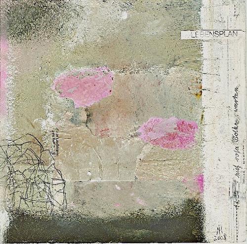 nanne hagendorff, Lebensplan - 17.30 auf rosa Wolken warten, Abstraktes, Abstrakte Kunst, Expressionismus