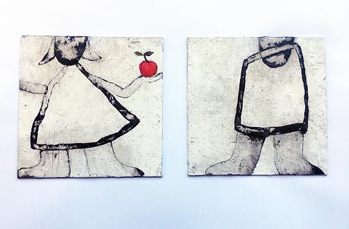 nanne hagendorff, Adam und Eva, Menschen, Abstrakte Kunst, Abstrakter Expressionismus