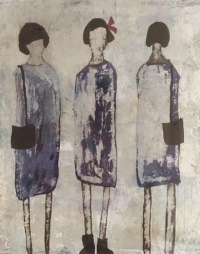 nanne hagendorff, Oh, ein schönes Kleid!, Menschen, Abstrakte Kunst, Abstrakter Expressionismus