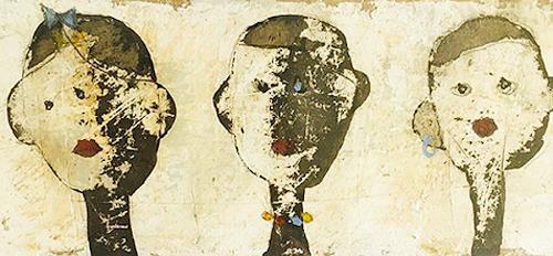 nanne hagendorff, Alle geschmückt!, Menschen, Abstrakte Kunst, Abstrakter Expressionismus