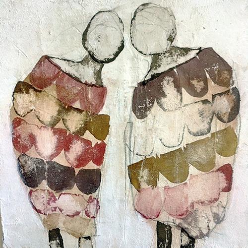 nanne hagendorff, Bisschen tratschen, Menschen, Abstrakte Kunst, Abstrakter Expressionismus