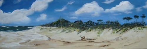 Beate Fritz, Am Strand, Landschaft: Strand, Landschaft: Sommer, Abstrakte Kunst