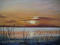 Beate-Fritz-Landschaft-See-Meer-Romantik-Sonnenuntergang