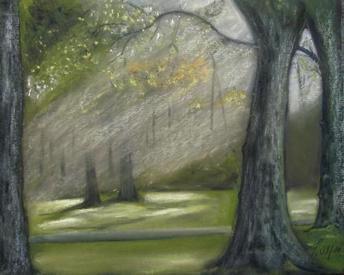 Beate Fritz, Ein schöner Herbsttag, Natur: Wald, Landschaft: Herbst, Abstrakte Kunst