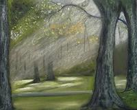 Beate-Fritz-Natur-Wald-Landschaft-Herbst-Moderne-Abstrakte-Kunst