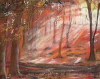 Beate-Fritz-Landschaft-Herbst-Pflanzen-Baeume-Moderne-Abstrakte-Kunst