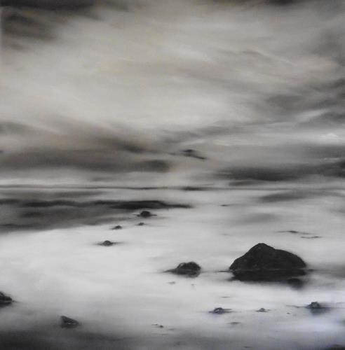 Beate Fritz, Schwanstein, Landschaft: See/Meer, Natur: Gestein, Gegenwartskunst, Expressionismus