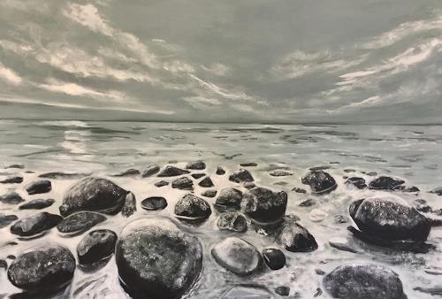 Beate Fritz, Folge Deinen Träumen ..., Landschaft: See/Meer, Diverse Gefühle, Gegenwartskunst, Expressionismus