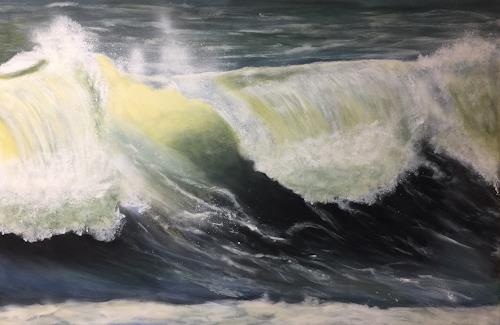 Beate Fritz, Frequenz UKW 104,8 MHz, Landschaft: See/Meer, Natur: Wasser, Gegenwartskunst, Abstrakter Expressionismus