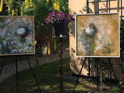 Beate Fritz, Wünsche im Garten, Diverse Pflanzen, Natur: Erde, Abstrakte Kunst