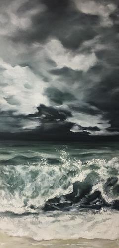 Beate Fritz, Ostsee-Moment, Landschaft: See/Meer, Natur: Wasser, Gegenwartskunst, Abstrakter Expressionismus