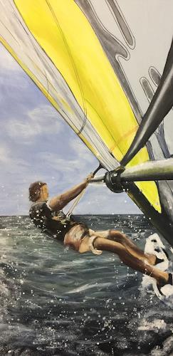 Beate Fritz, Im Wind, Sport, Bewegung, Gegenwartskunst