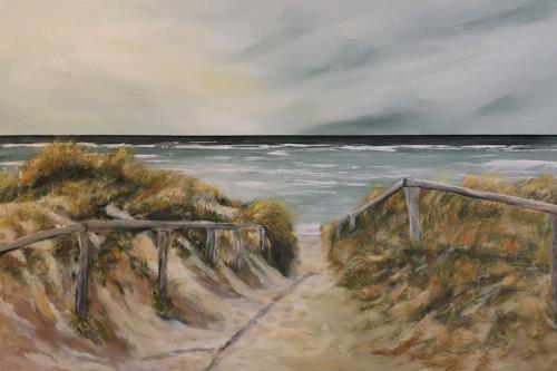 Beate Fritz, Zugang zum Meer, Natur: Wasser, Landschaft: Strand, Gegenwartskunst