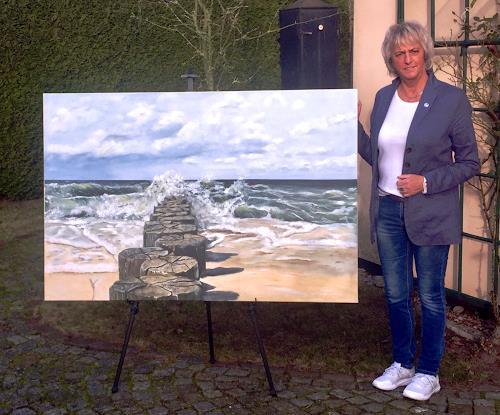 Beate Fritz, ...Ostsee im Garten, Landschaft: See/Meer, Landschaft: Strand, Gegenwartskunst