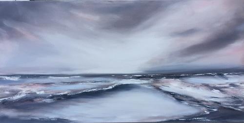 Beate Fritz, ...bis die Wolken wieder ...., Landschaft: See/Meer, Natur: Wasser, Gegenwartskunst, Expressionismus