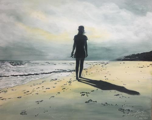 Beate Fritz, Der Sonne entgegen, Landschaft: See/Meer, Diverse Gefühle, Gegenwartskunst, Expressionismus