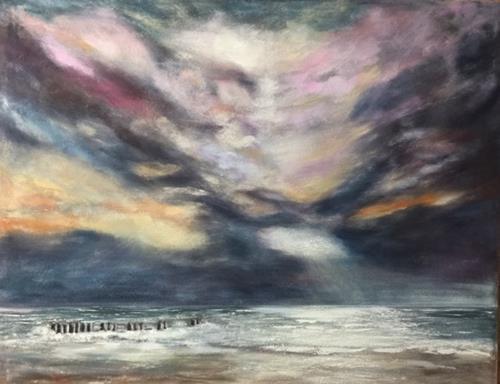 Beate Fritz, Der Himmel küßt das Meer, Natur: Wasser, Landschaft: See/Meer, Gegenwartskunst