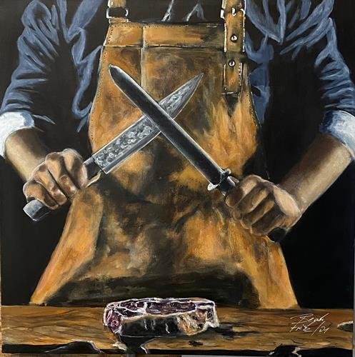 Beate Fritz, The Butcher, Diverse Menschen, Symbol, Gegenwartskunst