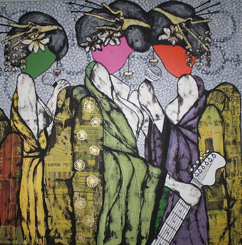 Pamela Gotangco, Free Pussy Riot, Symbol, Menschen: Gruppe, Gegenwartskunst, Expressionismus