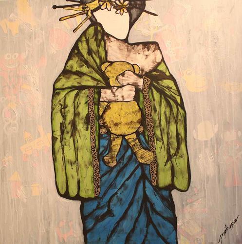 Pamela Gotangco, Tedd for my baby, Menschen: Frau, Gegenwartskunst, Expressionismus