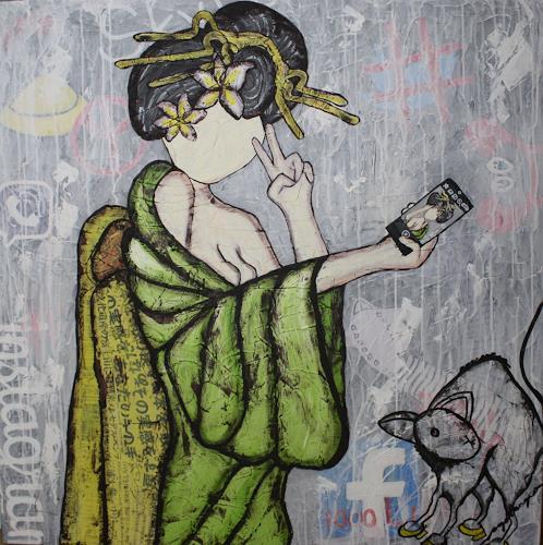 Pamela Gotangco, Selfie, Menschen, Gesellschaft, Gegenwartskunst, Abstrakter Expressionismus