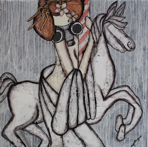 Pamela Gotangco, Merry go Round, Menschen, Gesellschaft, Gegenwartskunst, Abstrakter Expressionismus