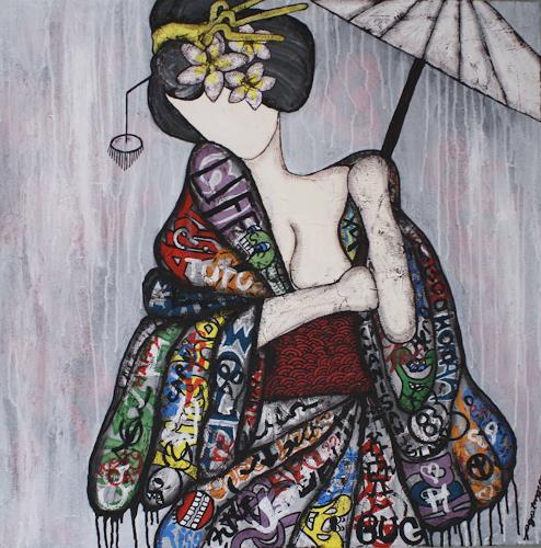Pamela Gotangco, Number 2, Menschen, Gegenwartskunst, Expressionismus