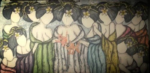 Pamela Gotangco, Last Nights Supper, Menschen, Humor, Gegenwartskunst, Abstrakter Expressionismus