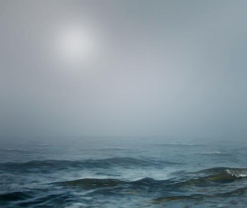 Robert Gärtner, Nebelmeer, Diverse Landschaften, Landschaft: See/Meer, Abstrakter Expressionismus
