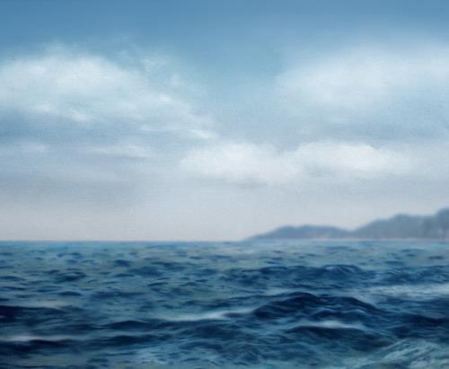 Robert Gärtner, Seegang, Landschaft: See/Meer, Naturalismus, Expressionismus