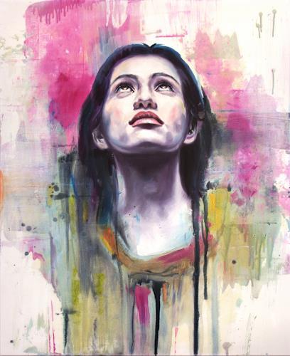 Robert Gärtner, She, Menschen: Gesichter, Menschen: Frau, Abstrakter Expressionismus